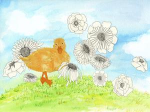 Duck & Flowers by Ingrid Blixt