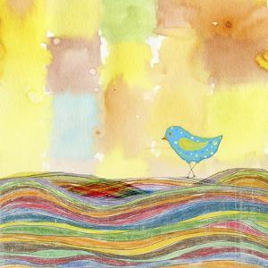 Feathers, Dots & Stripes IX by Ingrid Blixt