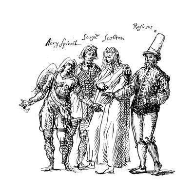 Figures Designed by Inigo Jones for the Masque of the Fortune Isles, 17th Century