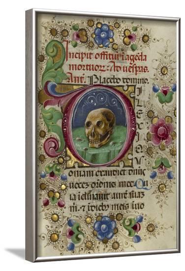 Initial D: A Skull in a Rocky Field-Taddeo Crivetti-Framed Art Print