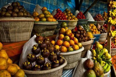 Open Air Fruit Market in the Village by InnervisionArt
