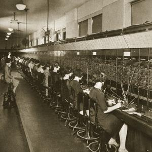 Inside a New York Telephone Exchange, Early 1930S