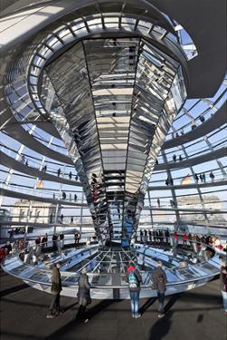 Inside the Dome of the Reichstag Building, Berlin, Germany
