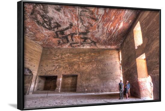Inside the Urn Tomb, Royal Tombs, Petra, Jordan, Middle East-Richard Maschmeyer-Framed Photographic Print