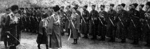 Inspecting Cossack Troops