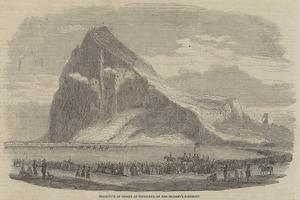 Inspection of Troops at Gibraltar, on Her Majesty's Birthday