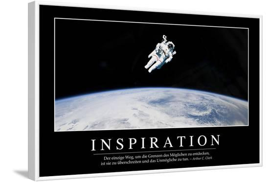 Inspiration: Motivationsposter Mit Inspirierendem Zitat--Framed Photographic Print