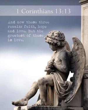 1 Corinthians 13:13 Faith, Hope and Love (Statue) by Inspire Me