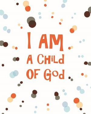 I Am A Child Of God Radial Dots Orange by Inspire Me