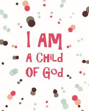 I Am A Child Of God Radial Dots Pink by Inspire Me