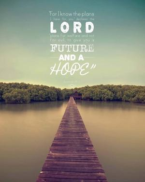 Jeremiah 29:11 For I know the Plans I have for You (Lake House Color) by Inspire Me