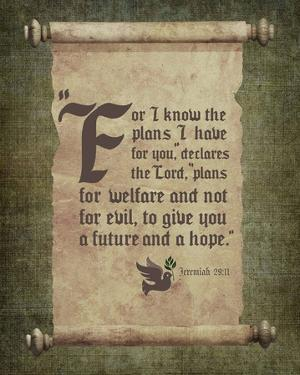 Jeremiah 29:11 For I know the Plans I have for You (Scroll) by Inspire Me