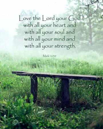 Mark 12:30 Love the Lord Your God (Bench) by Inspire Me