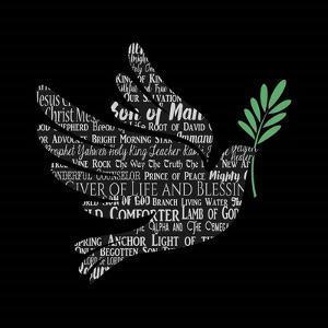 Names of Jesus Dove Silhouette Black by Inspire Me