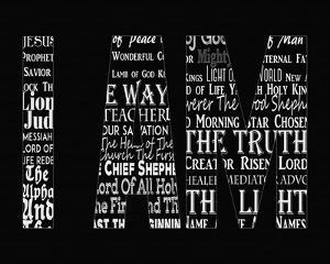 Names of Jesus I AM Silhouette Black by Inspire Me