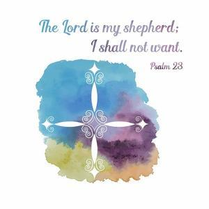 Psalm 23 The Lord is My Shepherd - Cross 1 by Inspire Me