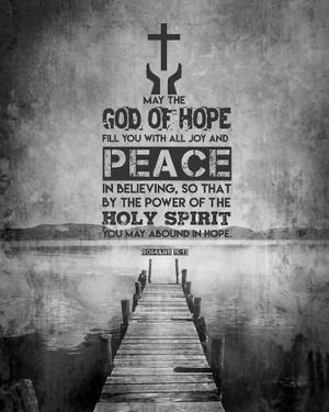 Romans 15:13 Abound in Hope (Black & White) by Inspire Me