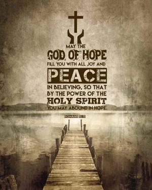 Romans 15:13 Abound in Hope (Sepia) by Inspire Me