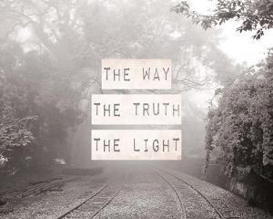 The Way The Truth The Light Railroad Tracks Black and White by Inspire Me