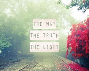 The Way The Truth The Light Railroad Tracks by Inspire Me