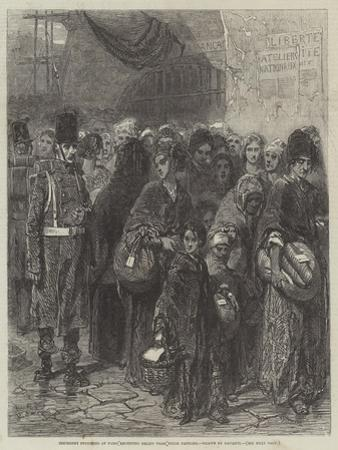 Insurgent Prisoners at Paris Receiving Relief from their Families