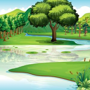Illustration of the Land and Water Resources by interactimages