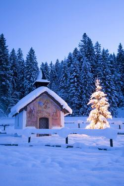 Germany, Bavaria, Elmau, chapel, Werdenfels Land by Interfoto