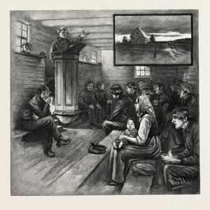 Interior and Exterior of Mennonite Church, Canada, Nineteenth Century