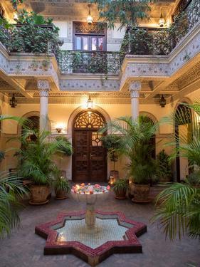 Interior Courtyard of Villa Des Orangers Hotel, Marrakesh, Morocco