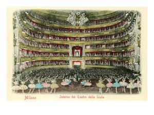 Interior, La Scala Opera House, Milan, Italy
