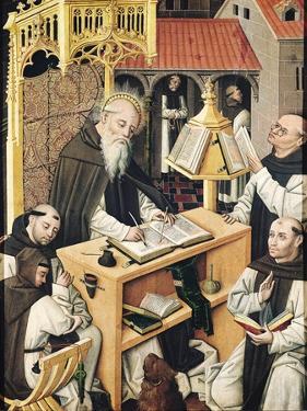 Interior of a Scriptorium, School of Segovia