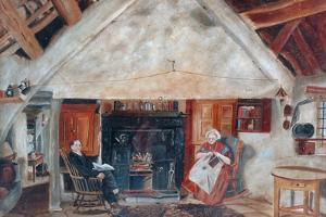 Interior of Cruck Cottage, Possibly Shipley Glen