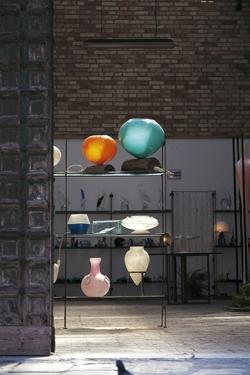 Interior of Glassworks with Handcrafted Products, Murano Island, Venice, Veneto, Italy