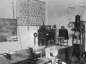 Interior of Madame Curie's Laboratory