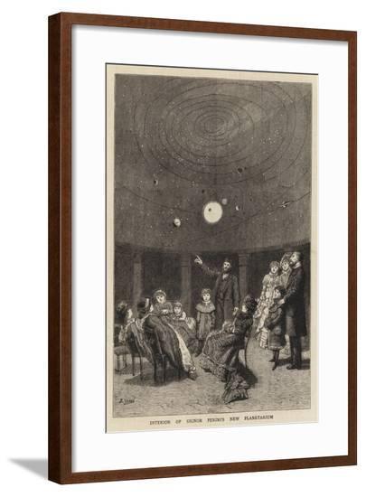 Interior of Signor Perini's New Planetarium--Framed Giclee Print
