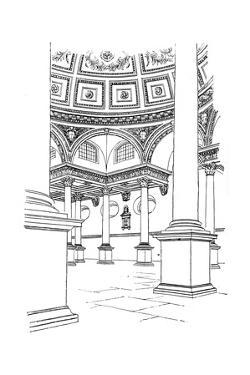 Interior of St Stephen's Church, Walbrook, City of London, 1893