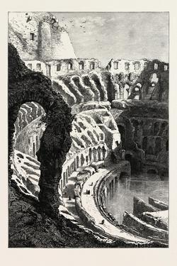Interior of the Coliseum, Rome and its Environs, Italy, 19th Century