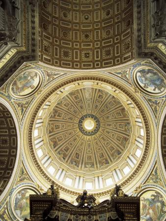 Interior of the Dome, St. Peter's Basilica, Vatican, Rome, Lazio, Italy by G Richardson