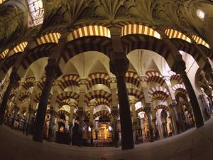 Interior of the Great Mosque, Houses a Later Christian Church Inside, Andalucia by S Friberg