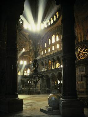 Interior of the Hagia Sophia, Built 533-537 CE