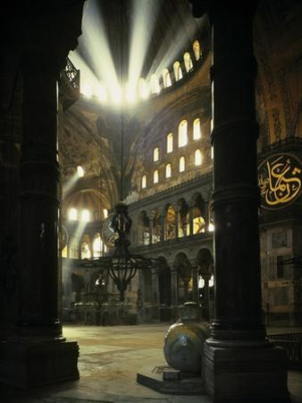 Interior of the Hagia Sophia, Built 533-537 CE