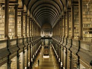 Interior of the Library, Trinity College, Dublin