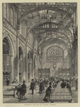 Interior of the New City Library, Guildhall