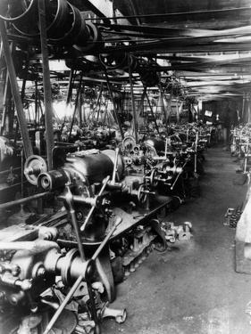 Interior of the Norton Factory, Showing the Production Line, 1929