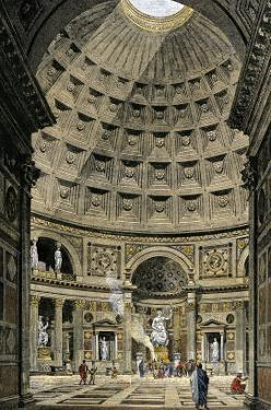 Interior of the Pantheon in Ancient Rome