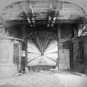 Interior of the Suspension Bridge, Niagara Falls, Canada, Early 20th Century