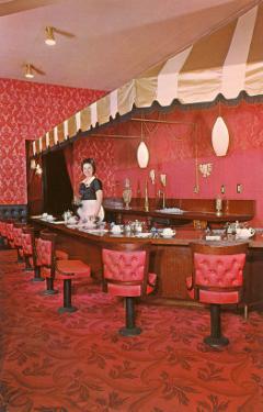 Interior, Retro Coffee Shop