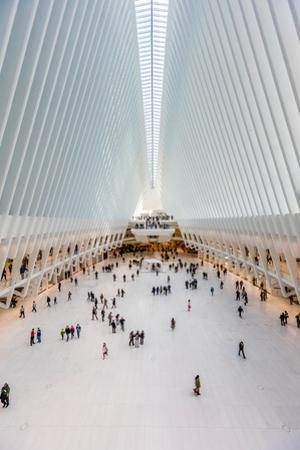 Interior view of Oculus Transportation Hub, NY, NY