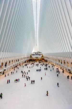 Interior view of Oculus Transportation Hub, NY, NY