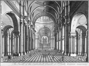 Interior View of St Paul's Cathedral, Looking East Along the Nave, City of London, 1720
